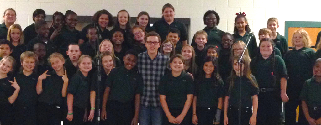 Garrett Collins with JES Chorus